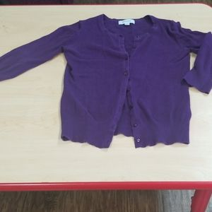Merona purple cardigan